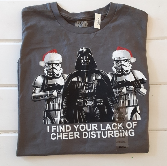 Star Wars Christmas Short Sleeve T-shirt XXL 2XL